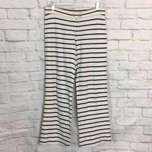 Tory Burch White Black Stripe Cotton Pants XS